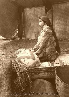Skokomish Indian chief's daughter, 1913