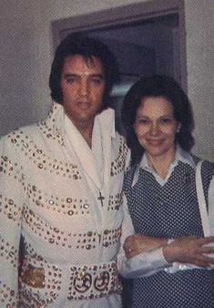 Elvis Presley with Rosalyn Carter, wife of President Jimmy Carter