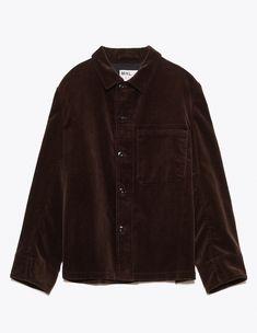 Margaret Howell - Single Pocket Jacket Corduroy Dark Brown | TRÈS BIEN