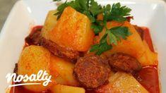 Paprikás krumpli kolbásszal   Nosalty Paella, Ale, Pork, Meat, Ethnic Recipes, Kale Stir Fry, Ale Beer, Pork Chops, Ales