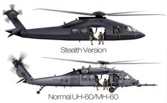 The US military may have operated a new classified helicopter type in its recent raid on Osama bin Laden's compound in Pakistan. It was a secretly developed stealth helicopter, probably a highly modified version of an Blackhawk. Helicopter Plane, Attack Helicopter, Military Helicopter, Us Military, Military Aircraft, Black Hawk Helicopter, Us Ranger, Black Hawk Down, Army Vehicles