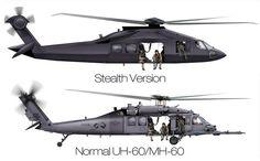 Stealth Blackhawk Helicopter UH-60 MH-60 Hybrid