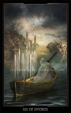 Six of Swords by ThelemaDreamsArt on DeviantArt