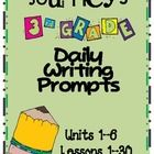 I have compiled all of the daily writing prompts for the 3rd grade Journeys reading series. They are each separated by story. All five days are lis...