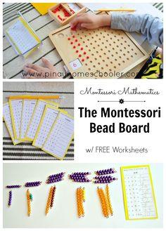 Montessori Bead Board                                                                                                                                                                                 Más
