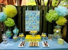 """I agree w/ this comment """"Green & yellow baby shower decor ideas (not so much on the blue!)"""""""