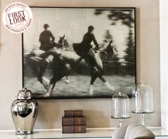 #FirstLook trend picks at #LVMkt: #equestrian. This is Phylum Design's English Riders digital pigment print on Japanese paper. It's sealed with encaustic and framed in stained ash. LVMKT WINTER 2015