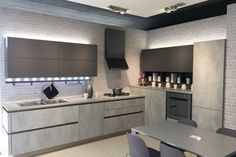 L shaped with table Compact Kitchen, Kitchen Cabinets, Table, Kitchens, Rooms, Home Decor, Houses, Furniture, Bedrooms