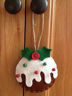 3 Handmade Shabby Chic Felt Christmas Decorations   eBay