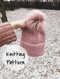 0f1e315381a Knitting Pattern Adult Knitted Hat Double Brim Beanie    The Caribou