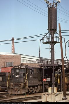 """The smokestack still reads """"Wabash""""... RailPictures.Net Photo: N&W 8040 Norfolk & Western GE C30-7 at Decatur, Illinois by George W. Hamlin"""
