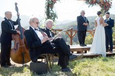 Married in THE MEADOW at The Mountain Winery in Saratoga, CA / Photo Credit LISA WHALEN PHOTOGRAPHY   / Gown by Ju.Lee Collection / Magnolia Jazz Band
