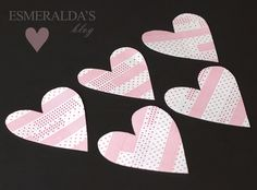 washi hearts