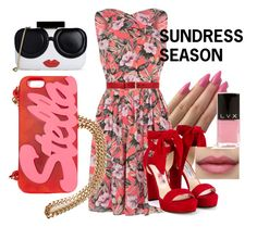 """""""Sundress Season Pt.2"""" by clippedkino ❤ liked on Polyvore featuring Oasis, Jimmy Choo, Gucci, Alice + Olivia, STELLA McCARTNEY and LVX"""