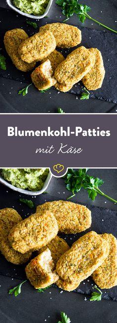Ob als saftige Beilage zu Fleisch und Fisch oder zum genüsslichen Dippen mit Kräuterquark - die kleinen Blumenkohl-Patties schmecken einfach immer!