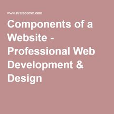 Components of a Website - Professional Web Development & Design