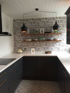 23 awesome brick wallpaper kitchen images future house diy ideas rh pinterest com