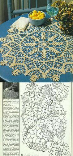 Free Crochet Doily Patterns, Crochet Doily Diagram, Crochet Mandala, Crochet Doilies, Crochet Lace, Crochet Stitches, Crochet Tablecloth, Crochet Gifts, Vintage Crochet
