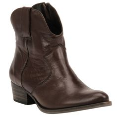 Bota Cano Curto Havana de Couro - Shoestock