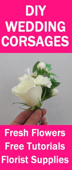 How to Make a Corsage - Easy Wedding Flower Tutorials