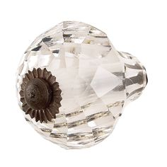 ice cream cone knob in clear. Decorative Door Knobs, Decorative Bowls, Shabby Chic Knobs, Crystal Knobs, Large Frames, Dresser Knobs, Gardening Supplies, Knobs And Pulls, Cottage Chic