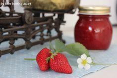 Erdbeermarmelade mit Holunder