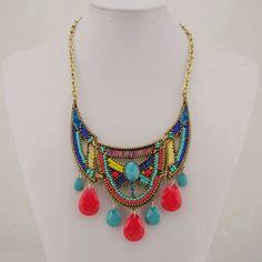 New Trendy Bohemian Style Necklace Jewelry Bib by MarkDiyCASE, $18.00