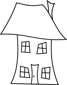 Three Crooked Houses Free Digital Stamps