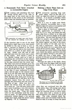Making a block plane into an edge-trim plane, Popular Science, circa September 1918