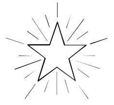 Schneeflocken und Sterne: Stern 4 zum Ausmalen