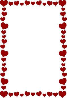 Bridal Association of America Wedding Clip Art Free Valentine Clip Art, Valentines Day Border, Heart Clip Art, Boarders And Frames, Heart Border, Photo Deco, Wedding Clip, Borders For Paper, Doodle Borders