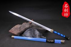 Spiritual Han Tai Chi Sword in 3 Colors Chinese Weapons, Zombie Apocalypse Weapons, The Han Dynasty, Cool Swords, Weapon Concept Art, Necromancer, Fantasy Weapons, Evil Spirits, Knives And Swords