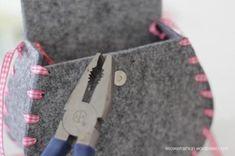 DIY: Dirndltasche - Knopf anbringen