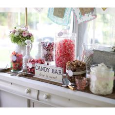 Love this vintage candy bar idea for a party!