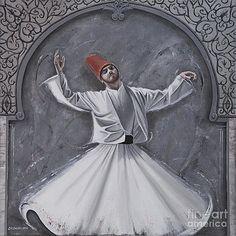Islamic mysticism. Whirling dervish. Carol Bostan