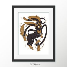 Gilded Eeveelutions Series: Sylveon [5x7 & 8x10 PRINTS]