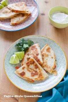 Yum! Fajita-Style Quesadillas are the perfect finger food for your next game day: http://www.bhg.com/blogs/delish-dish/2014/09/04/fajita-style-quesadillas-2/?socsrc=bhgpin091514fajitastylequesadillas