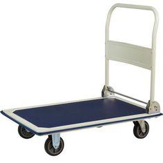 Wózek platformowy ze składanym uchwytem, do 300 kg