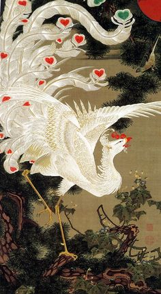 Jyakucyu Ito born in 1716 Edo period. Just great artist.