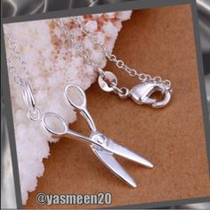 ✂️Hairstylist necklace ✂️ ✂️perfect hairstylist gift ✂️ Sterling silver, 925 stamped scissor necklace. NEW 3 available. (Let me know if you need more than one and I'll make a new listing for you to add to bundle). Jewelry Necklaces