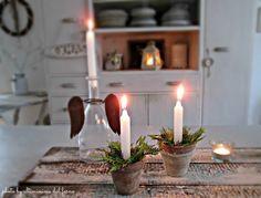 ...ultimissime dal forno...: 1♥ VASETTI PORTA CANDELA PER NATALE AL VERDE... WA...