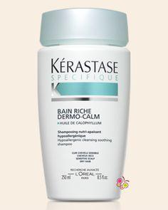KERASTASE Specifique Bain Riche Dermo Calm Hassas Saç Derisi ve Kuru Saçlar İçin Yatıştırıcı Krem Şampuan 250 ml