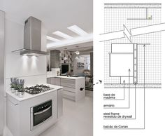 Balcão multiúso demarca a ampliação desta cozinha / Thoni Litsz