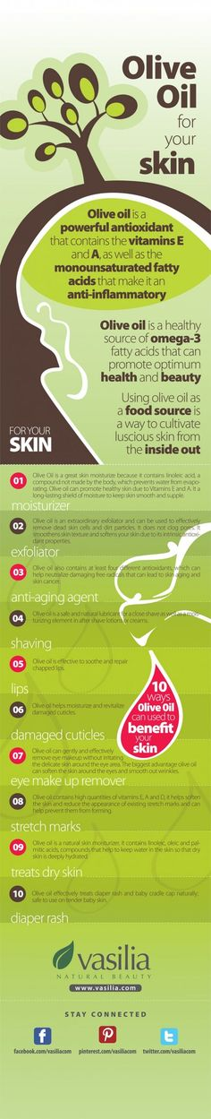 Olive oil skin care #infographic