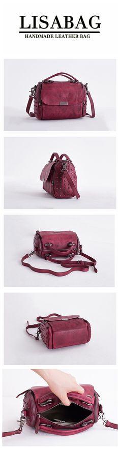 7b905a389305d Handmade Full Grain Leather Messenger Bag Women's Fashion Handbag Small  Satchel Leather Purse WF85 Satchel Purse