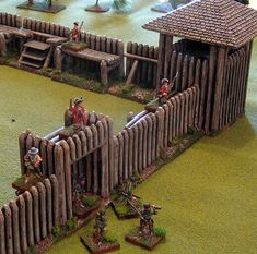 My completed Acheson Creations French & Indian War fort I wasn't sure if I'd be able to get this whole thing completed in time for. Forte Apache, Model Castle, Seven Years' War, Medieval Houses, Wargaming Terrain, Army Vehicles, Military Diorama, Le Far West, Fortification