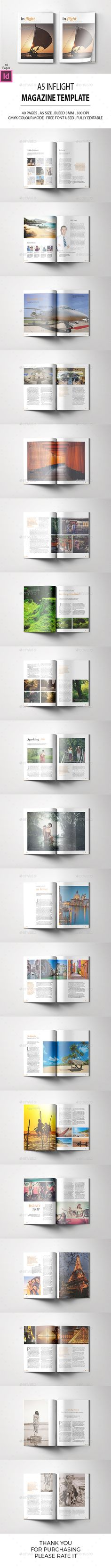 A5 Inflight Magazine Template InDesign INDD