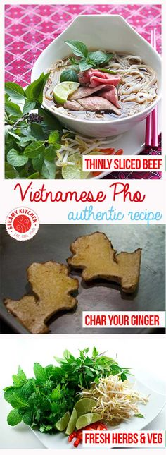 An authentic Vietnamese Pho Recipe from award-winning cookbook, Into The Vietnamese Kitchen by Andrea Nguyen. Step by step photos with secret tips! ~ http://steamykitchen.com