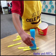 Apples and ABCs: French Fry Sight Word Activity!