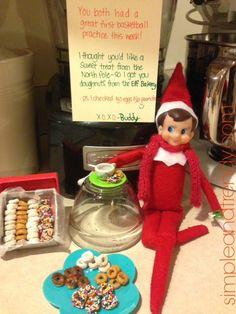 Elf on the Shelf Idea : Mini Elf Donuts
